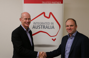 Jim Gardener, GM Joint Battlespace Systems & Greg Reid, Managing Director Clearbox Systems