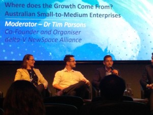 Executive Director, Jeremy Hallett, speaking at the Australian Space Industry Conference.