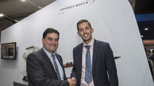 Lockheed Martin Australia Chief Executive, Vince Di Pietro and Executive Director of Clearbox Systems, Jeremy Hallett